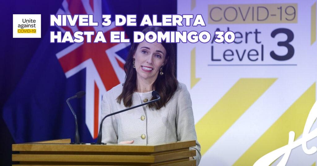 NIVEL 3 DE ALERTA HASTA EL DOMINGO 30