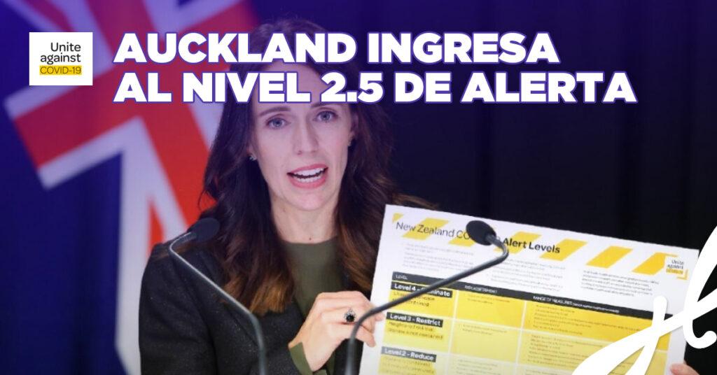 Auckland ingresa al nivel 2.5 de alerta