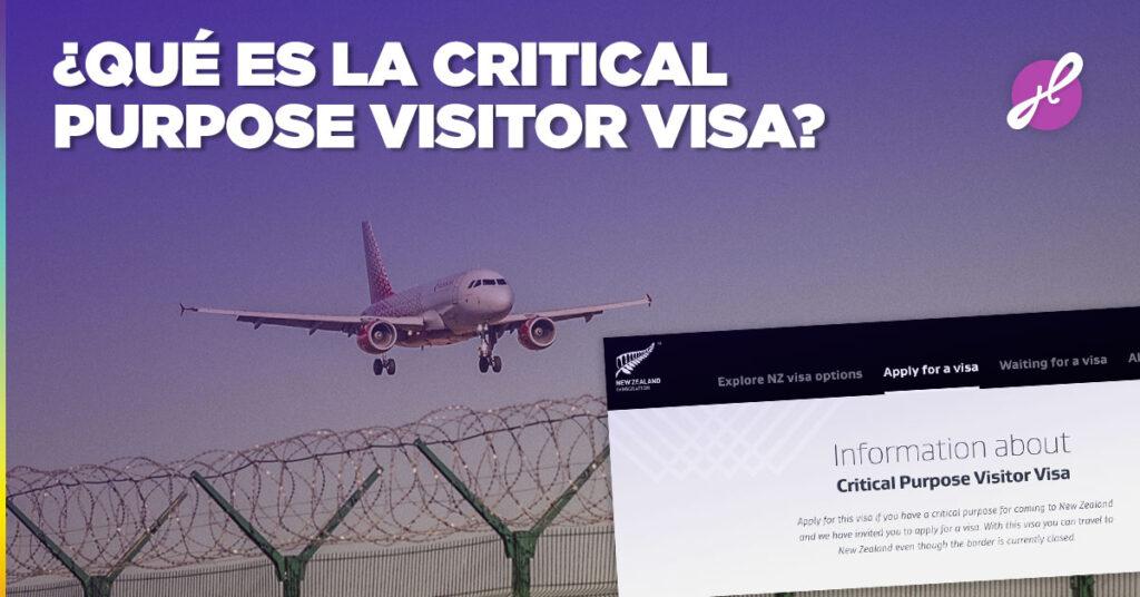 que es la critical purpose visa