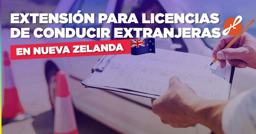 extension licensia de conducir nueva zelanda