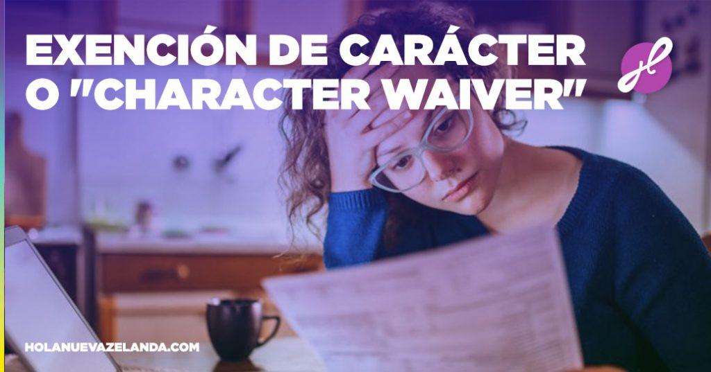 characte waiver nueva zelanda