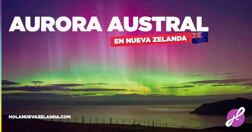 aurora austral en nueva zelanda
